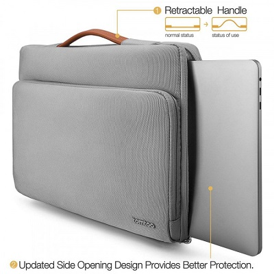 Túi chống sốc Tomtoc Briefcase cho Laptop, Macbook, Surface 13/15' - A14